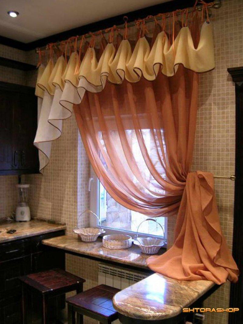 Красивые занавески на кухню фото