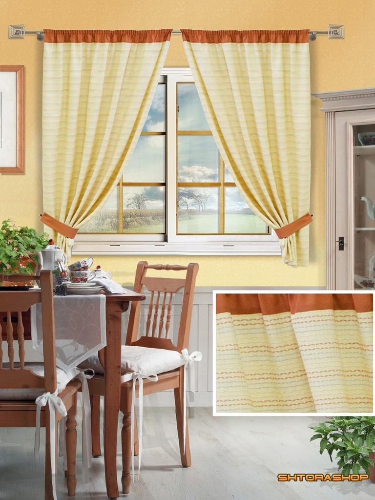 Демонстрируют собой шторы на кухне в