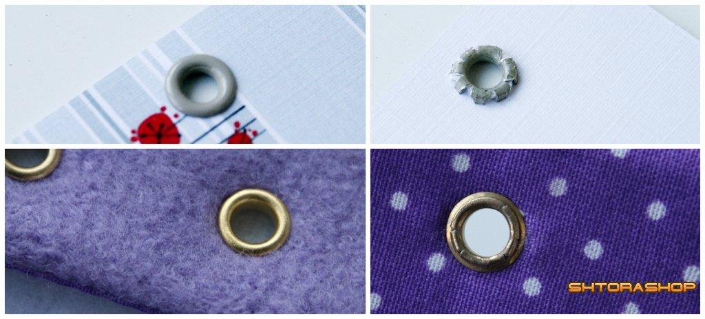 Как сделать люверсы из ткани
